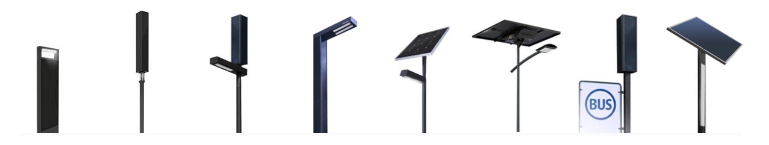 Catalogue lampadaire et candélabre solaire