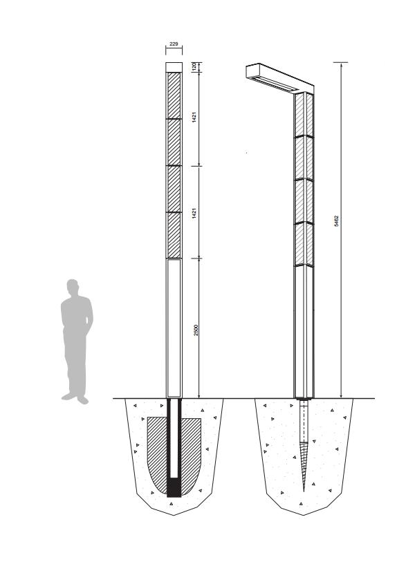 Fonctionnement du candélabre 300W luminaire à LEDs pour l'éclairage public
