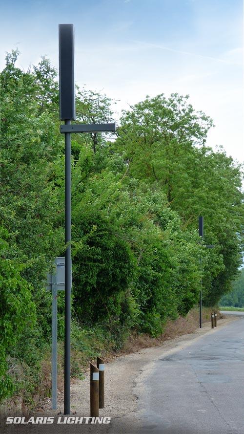 Lampadaires à panneaux solaires pour l éclairage de la voie verte de Maisse  (91, Essonne) ... 74cb326720fc